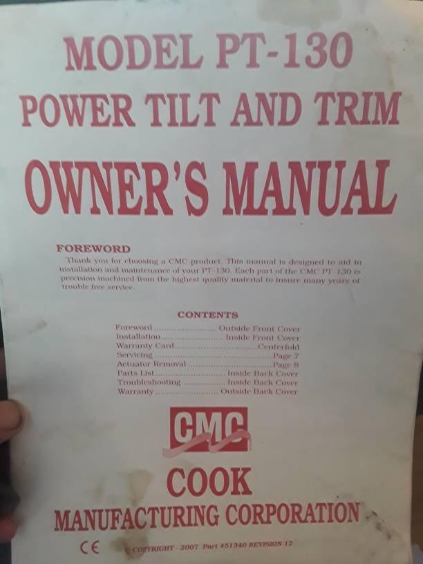 Cmc pt130 tilt/trim for sale. | Arkansas Hunting - Your ... on teleflex power trim, cmc parts, 25 hp mercury outboard power trim, small outboard power trim, cmc power tilt, cmc trim motor, cmc jack plates,