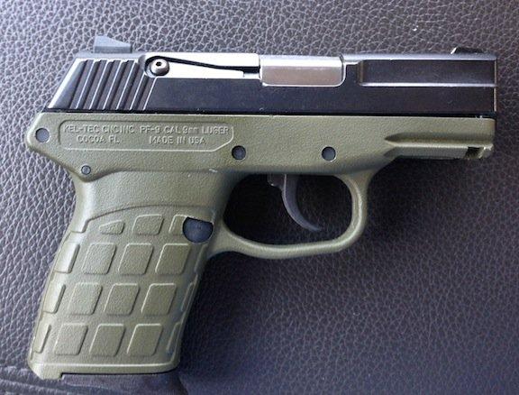 FS Kel-Tec PF9 9mm OD frame and blue slide rare color combo